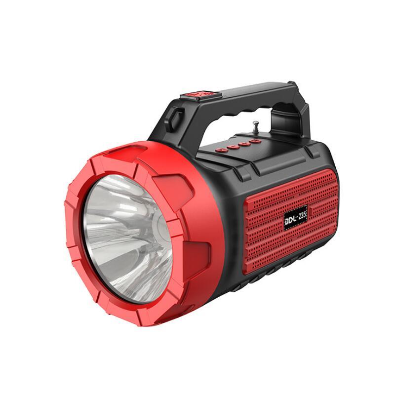 FM Radio Multimedia Radio Retro Speaker Strong Light Source Flashlight Bluetooth Wireless Portable Speaker Solar Energy Charging enlarge