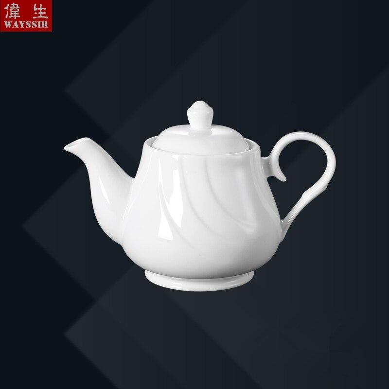 إبريق شاي خزفي أبيض فائق الجودة ، 800 مللي ، سيراميك ، للمطعم ، الفندق ، المنزل ، نمط ذيل فينيكس ، للعشاء ، الحفلات