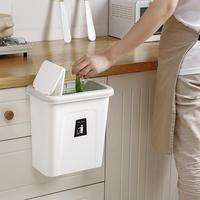Kitchen Push Cover Trash Can Hanging Fruit And Vegetable Skin Kitchen Garbage Storage Bucket Simple Storage Box