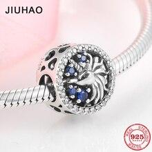 핫 925 스털링 실버 마법의 파란색 CZ 매력 유니콘 비즈 맞는 여성 원래 JIUHAO 팔찌 파인 쥬얼리 선물 만들기