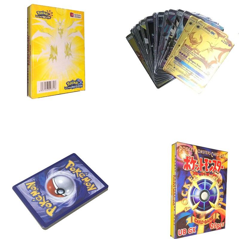 20 sztuk GX Animals non repeat Shining gra karciana bitwa Carte Trading dzieci Pokemon card Toy