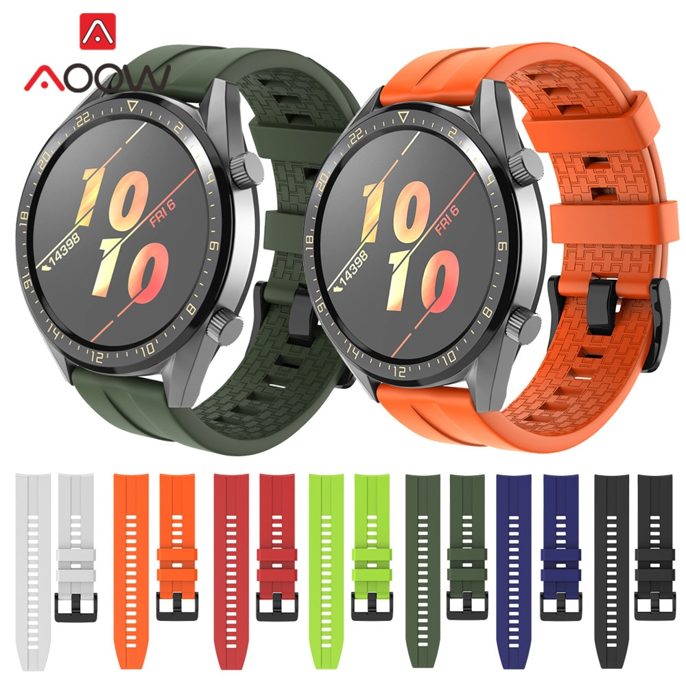 22mm Sport Silikon Armband für Huawei Ehre Magie Uhr GT Aktive Strap Armband Band für Samsung Galaxy Uhr 46mm Getriebe S3