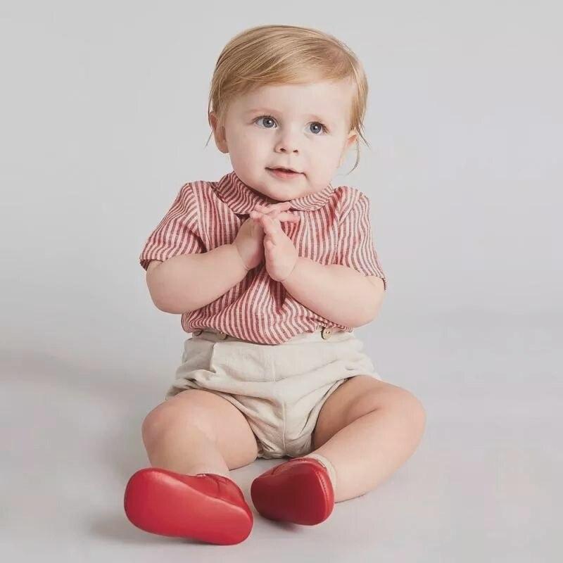 طفل رضيع الملابس مجموعة الأطفال بوتيك دعوى الرضع القطن شريط قميص السراويل 2 قطعة ملابس الأولاد الإسبانية حفلة عيد ميلاد وتتسابق