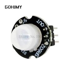 10 sztuk MH-SR602 MINI czujnik ruchu moduł detektora SR602 piroelektryczny zestaw podczerwieni PIR przełącznik sensoryczny GOHJMY