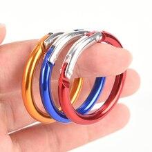 6 uds Camping senderismo O forma de anillo herramienta al aire libre EDC clip con hebillas mosquetón redondo gatillo anilla para enganches para bolsos DIY bolsa Accesorios