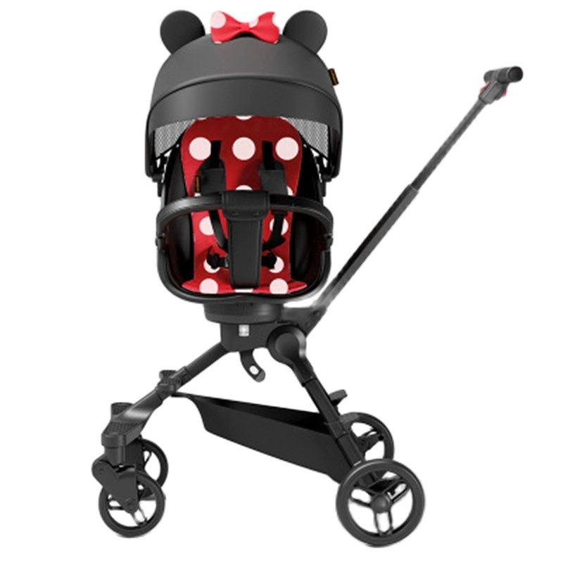 Lightweight stroller foldable high landscape stroller 1-5 years old stroller can sit and walk the baby artifact stroller