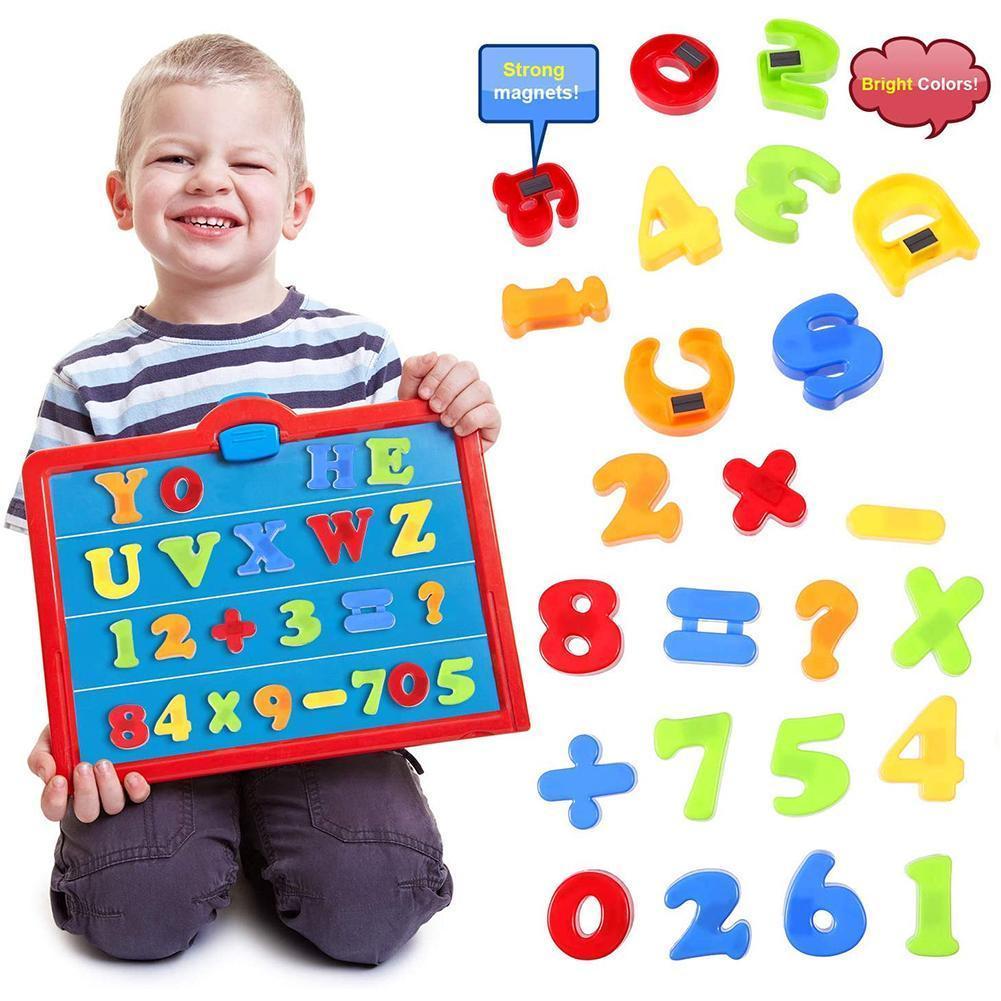 Nuevos imanes magnéticos a-z con letras del alfabeto, lenguaje de matemáticas Número de aprendizaje, juguetes para bebés, regalo educativo para niños, juguetes tempranos U0B6