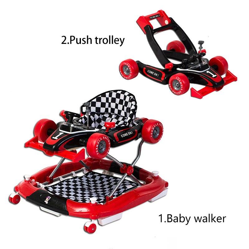 Andador plegable multifunción Anti-rollover, cochecito de bebé para niños, rwith Walke, carrito de Fácil plegado musical de 6 a 18 meses