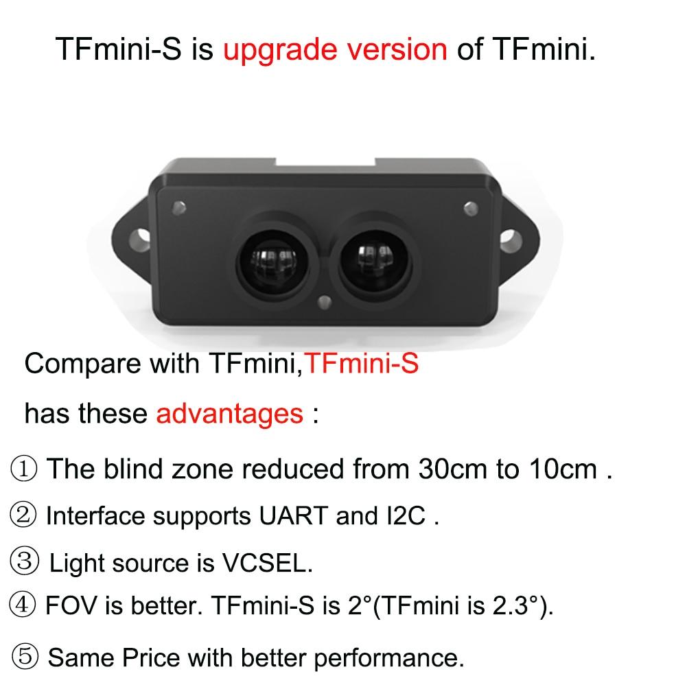 10PCS  TFmini-S Lidar Range Finder Sensor Module TOF Single Point Micro Ranging UART & IIC 0.1-12m (Upgrade Version of TFmini) enlarge