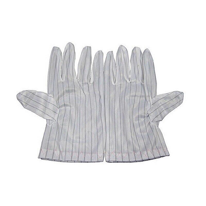 1 Pairs Anti-static Anti-skid Gloves White Striped For ESD BGA Repairing Soldering Working