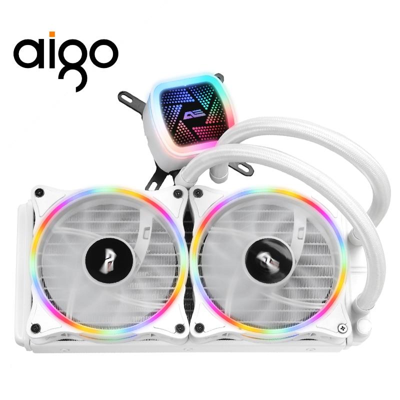 Aigo PC Case Fan Water Cooler CPU Fan 120MM T120/240 Water Cooling Heatsink Integrated Clooer Cooling Radiator LGA 115X/2011/AM4