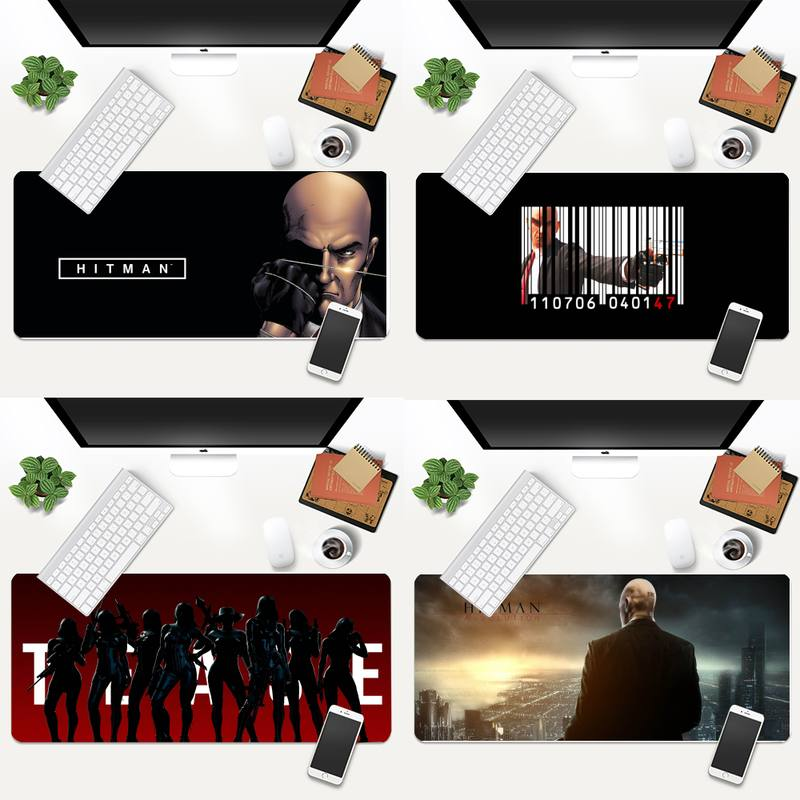 Коврик для клавиатуры Hitman, резиновый игровой коврик для мыши, Настольный коврик, анимация, XL, большой игровой коврик для клавиатуры, настоль...