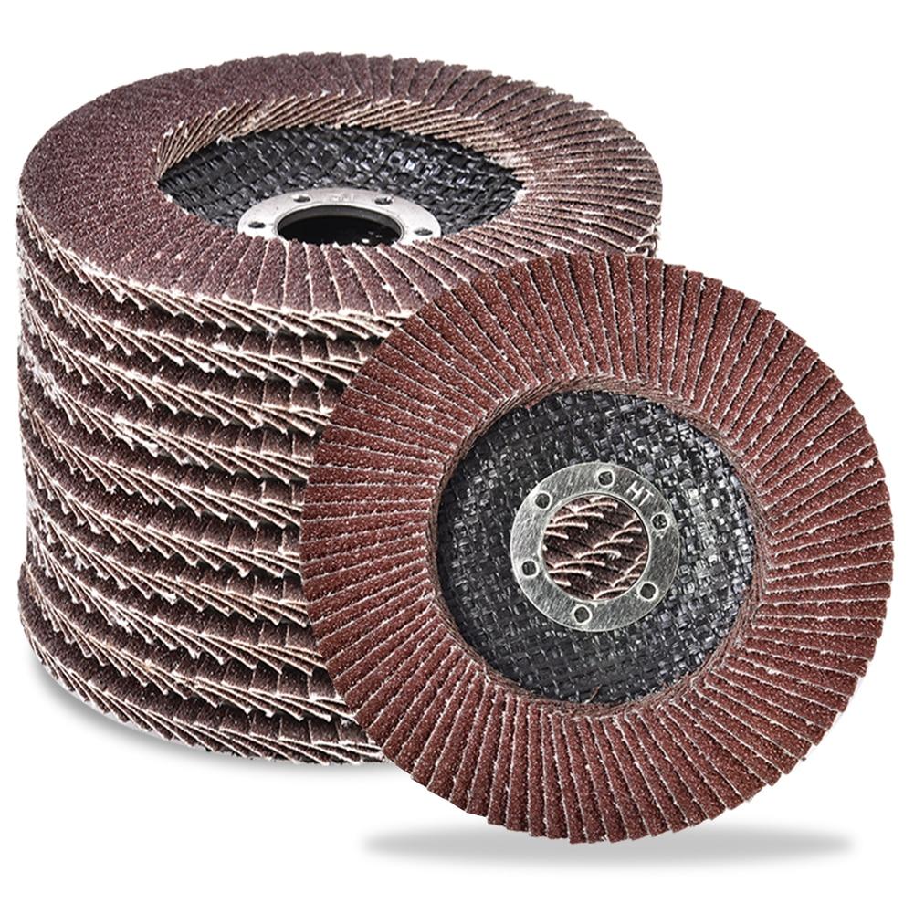 Шлифовальные диски зернистостью 406080120, 10 шт., шлифовальные диски с откидной крышкой, угловые шлифовальные диски 115 мм, абразивные диски для м...