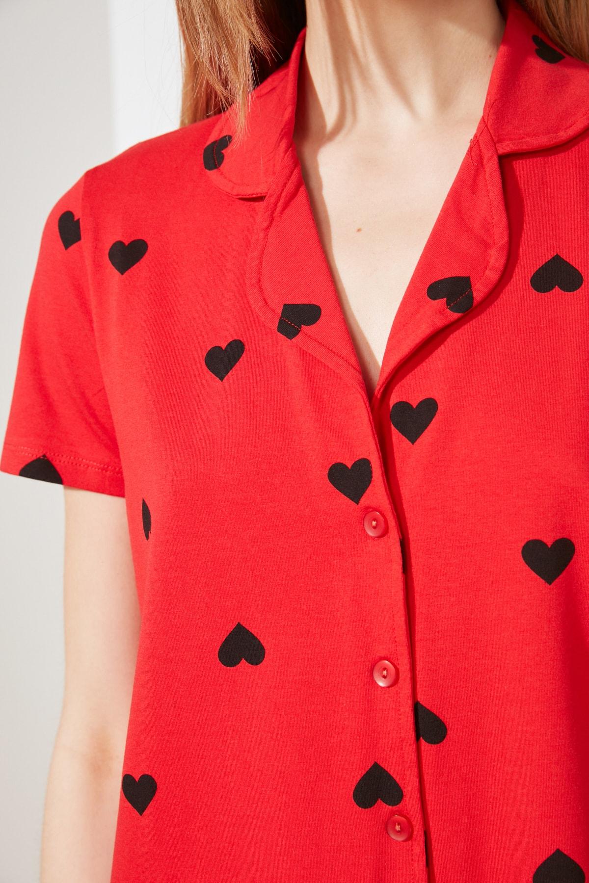 Сердце Узор Вязание Пижама
