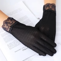 female mid long summer lace cycling bicycle thin touch screen driving gloves sunscreen bike sleeve gloves for women guantes