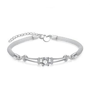 NB01 Korean Platinum plated Bracelet Zirconia Stone Trendy jewelry lot Bracelet & Bangle for women Accessories
