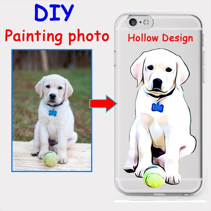 IPainting-funda de teléfono personalizada con foto impresa, funda suave y transparente para...