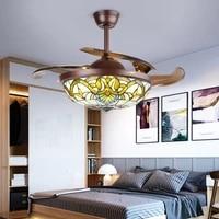 110v 220v modern ceiling fan light tiffany light luxury crystal led ceiling fan lighting ceiling fans with lights