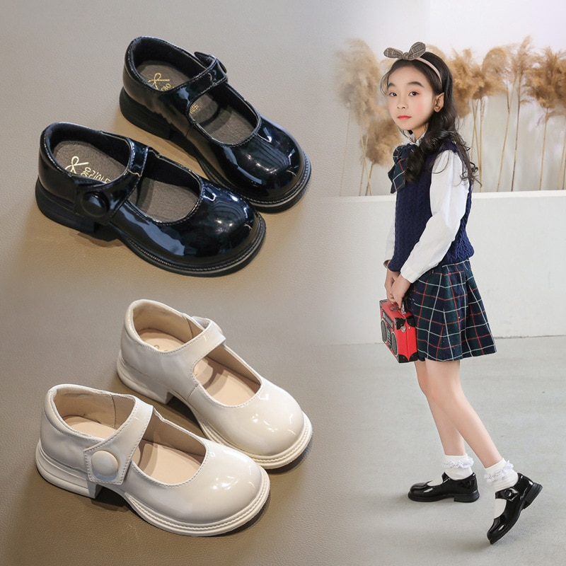 pink black red children girls shoes for kids student leather shoes school black dress shoes girls 4 5 6 7 8 9 10 11 12 13 14t 2021New Kids Shoes Girls Leather Shoes School Student Black Dress Shoes Children Princess Shoes Chaussure Fille 3 4 5 6 7 8-13T