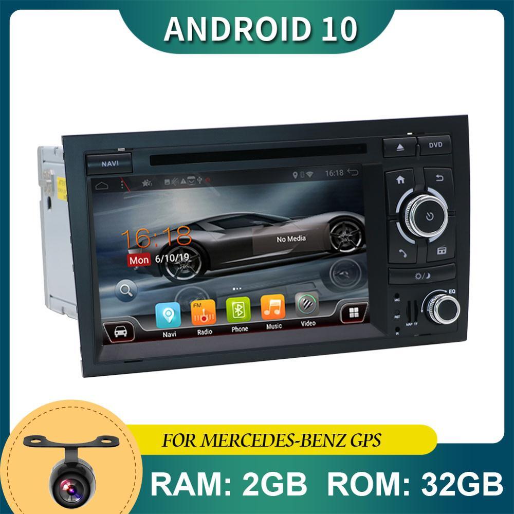 7inch 2 din Android 10.0 For Audi A4 B6 B7 Radio Stereo GPS Navigation Head Unit PC Autoradio Wifi BT RDS FM AM USB DVD CD DAB