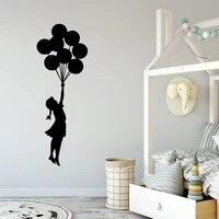 Autocollant Art mural en forme de ballon   Autocollant retro Banksy pour filles  decoration pour chambres denfants  autocollants dart en vinyle pour la maison bricolage
