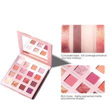 For FOCALLURE 16-color Eyeshadow Pearly Matte Eye Shadow Palette Shimmer Shiny Matte Desert Rose Versatile Eye Shadow Set