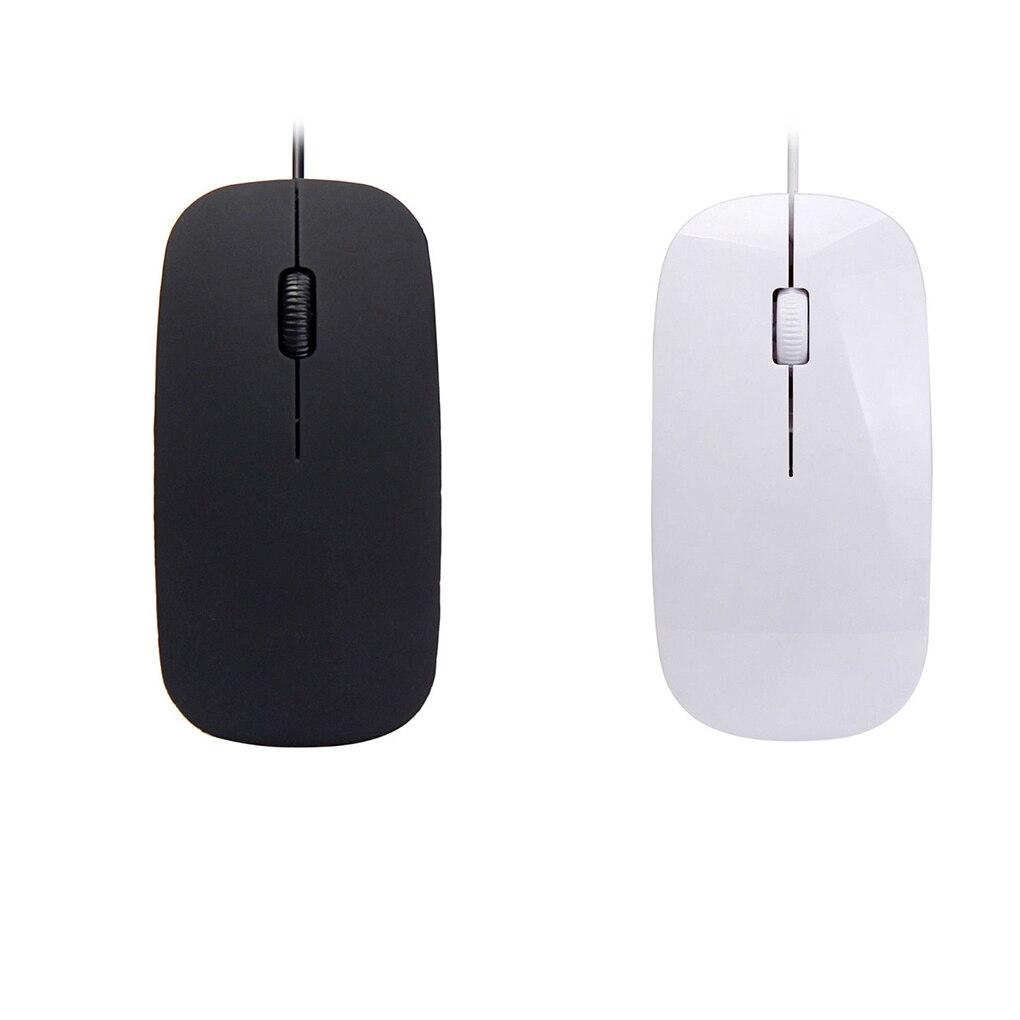 Ultra delgado ratón de la computadora USB 2,0 con cable de ratón...