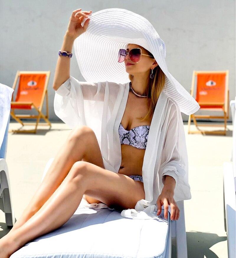 Bikini con estampado de leopardo para mujer, traje de baño con dos piezas con realce, cintura baja, 2021