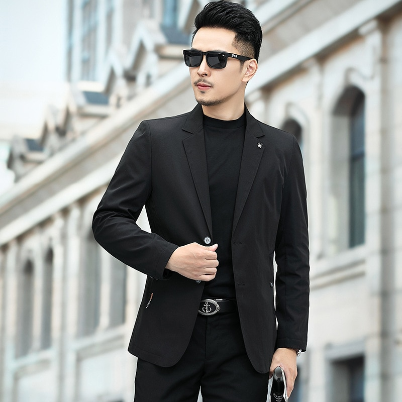 2021 New Suit Mens Non Ironing Casual Small Coat Fashion Bianxi Men Clothing