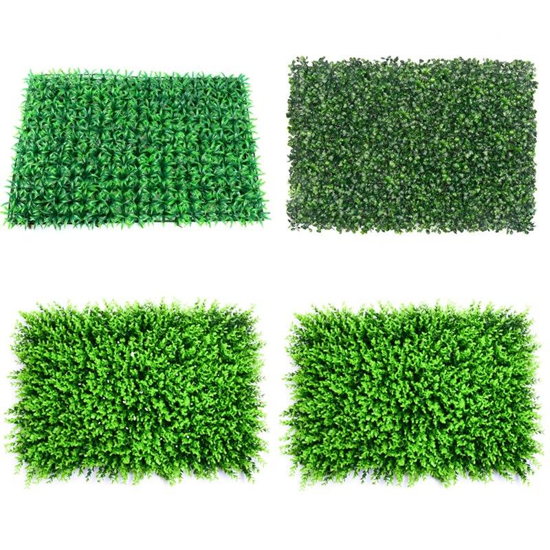 Alfombra de césped de 40x60cm, alfombras de paisajes de plantas verdes artificiales para decoración de paredes de jardín, césped Artificial, suministro de boda para fiestas