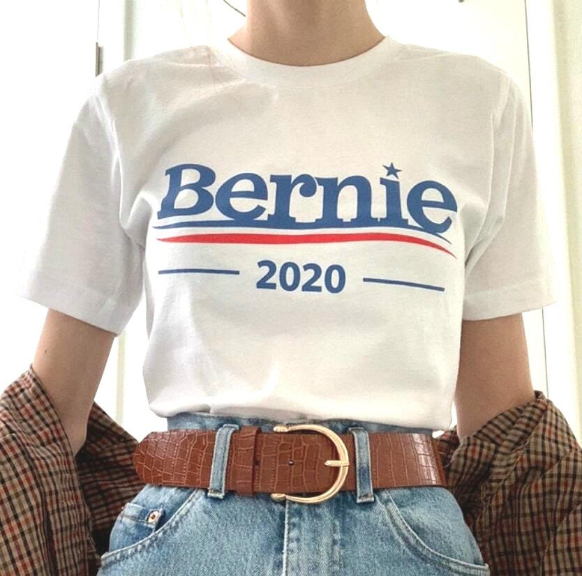 New Summer Humor Bernie 2020 t-shirt Unisex Men Women Graphic Cotton Tees Plus Size Round Neck Hipster Outdoor Harajuku T shirt