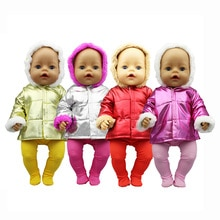 2020 New Down jacket + leggings Doll Clothes Fit For 18inch/43cm born baby Doll clothes reborn Doll