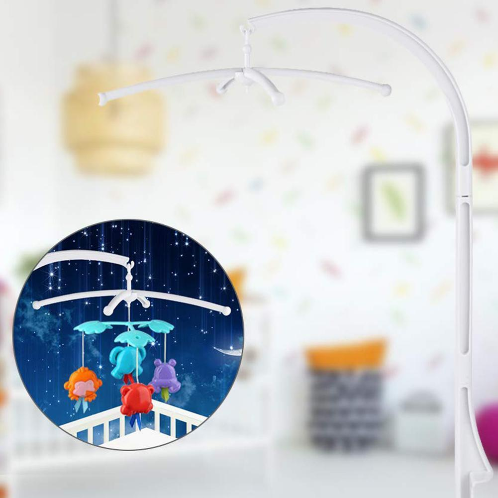 Baby Bed Bell Bracket 360 Degree Rotating Baby Bed Toys Bell Interactive Crib Baby Rattle Wind-up Holder Bed Bell Mobile B3X5