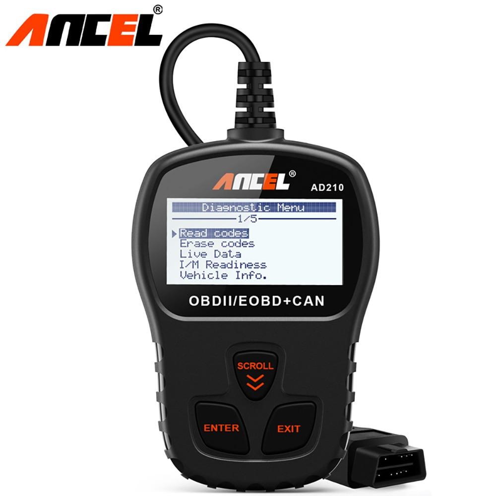 ANCEL AD210 Original OBD2 Automotive Scanner OBD Code Reader Löschen Fehler Multi Sprachen Auto Diagnose Werkzeug Update Für Freies