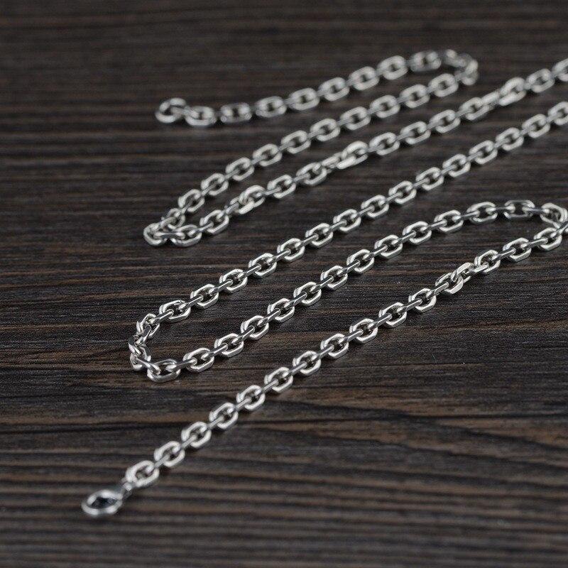925 collier en argent Sterling pour femmes 50cm lien chaîne hommes bijoux fins Vintage moderne unisexe Steampunk bijoux cadeaux de luxe
