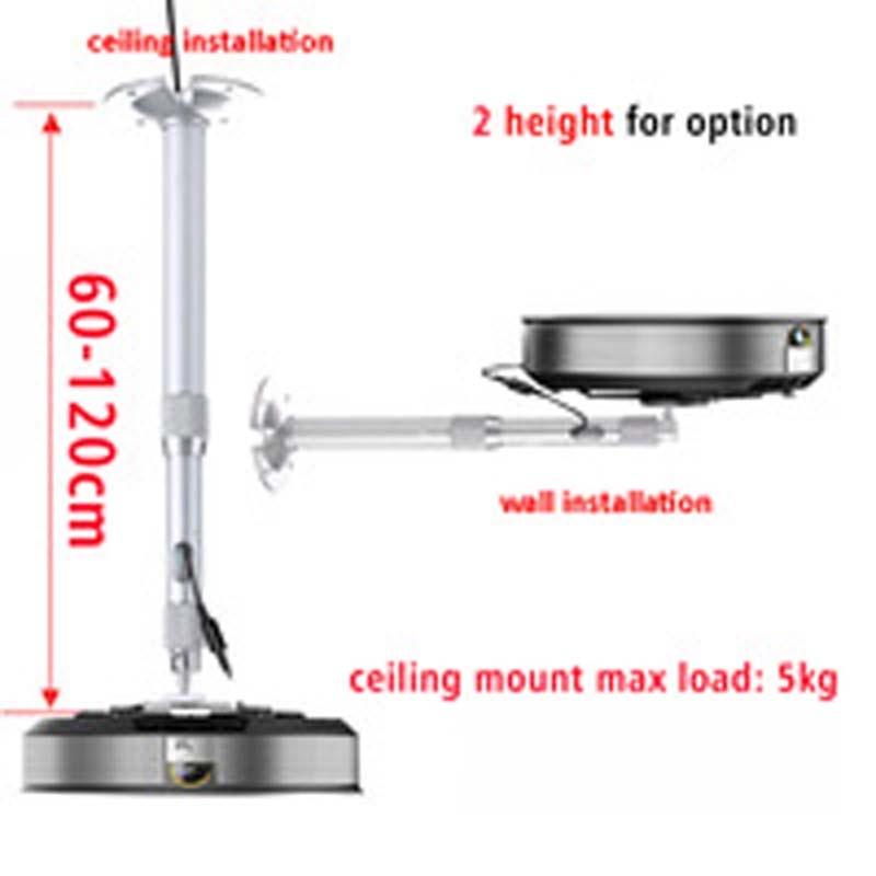 PMA-M1-60120 universal mini projetor suporte de mesa 360 girar tilt mini projetor braçadeira suporte cabeceira