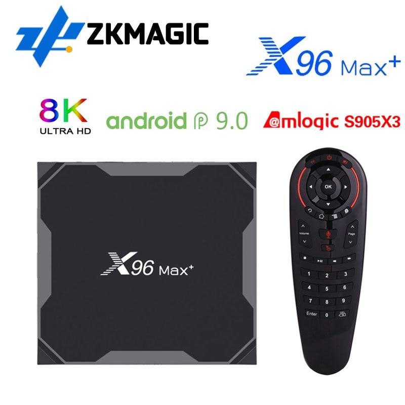 AliExpress - X96MAX Plus2 4/64 Android 9.0 Smart TV Box Amlogic S905X3 Quad Core Dual Wifi 2.4/5.0G 1000M 4/32GB 8K HD X96 MAX S905X3 TV BOX