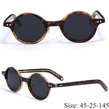 Vintage retro quality character round sunglasses imported acetate frame polarized lens fashion origi