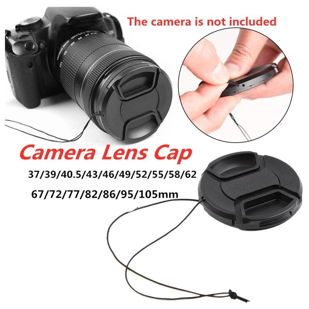 Tapa de objetivo central ajustable y Compatible con Nikon, Canon, Sony, Fuji, Panasonicetc, Compatible con todas las marcas cualquier lente con cámara