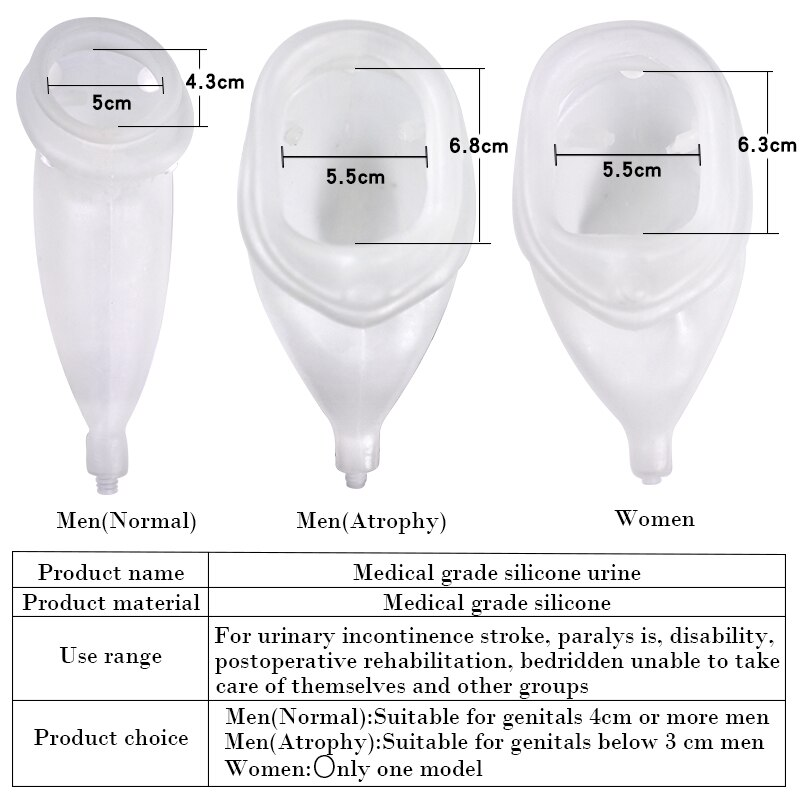 Urinary Incontinence Urinal the Adults Urine Bag Men Women Elderly Bedridden Patients Urination Catheter Bag