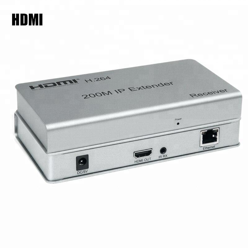 656ft IP Extender HDMI Extension Over RJ45 Cat5e 6 6E CAT6 Ethernet Network Cable UTP Can 4 Transmitter 30 Receiver DVD PC To TV usb kvm extender lossless and no latency hdmi transmitter and receiver over single cat5e 6 utp ethernet cable hdmi kvm extender