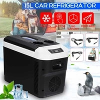 portable dc 24v 12v car refrigerator freezer cooler 15l auto fridge compressor quick refrigeration home picnic icebox