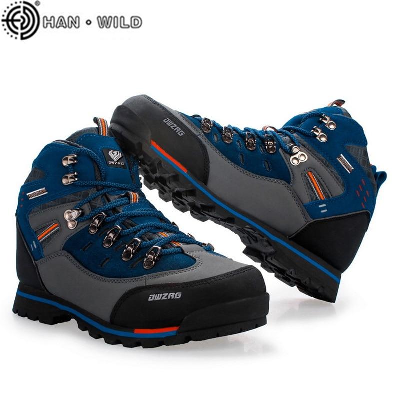 ماركة الرجال حذاء للسير مسافات طويلة في الهواء الطلق تسلق الجبال أحذية للرجال التنزه بوتاس موضة رياضة حذاء ارتحال عدم الانزلاق مقاوم للماء