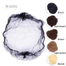 50 adet/20 adet örnek sipariş beş renk naylon saç fileleri görünmez yumuşak elastik hatları saç Net