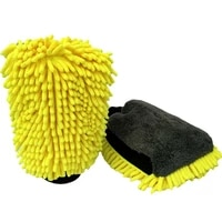 waterproof car wash microfiber chenille gloves thick car cleaning mitt wax detailing brush auto care double faced glove
