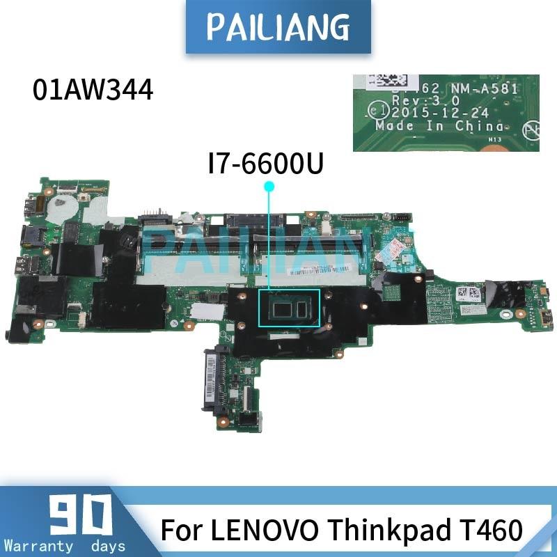 Get For LENOVO Thinkpad T460 I7-6600U Mainboard 01AW344 SR2F1 Laptop motherboard DDR3 tested OK