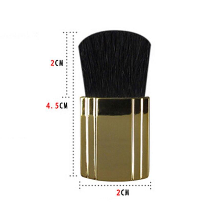 Brocha de colorete plana de regalo de diseñador de moda, brochas de maquillaje cosméticas profesionales, brocha dorada para mujeres y niñas