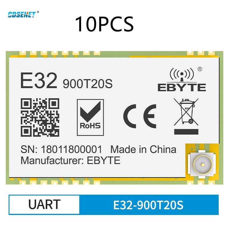 SX1276 LoRa Wireless Serial Port Module UART 868MHz 915MHz 20dBm 5.5km Long Range IPEX/Stamp Hole CDSENT E32-900T20S Tranceiver