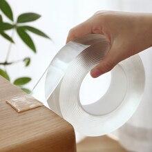 Adhésif Magic Nano Transparent lavable   Bande adhésive Double face, Nano-sans Trace, colle amovible, nettoyable, pour le ménage
