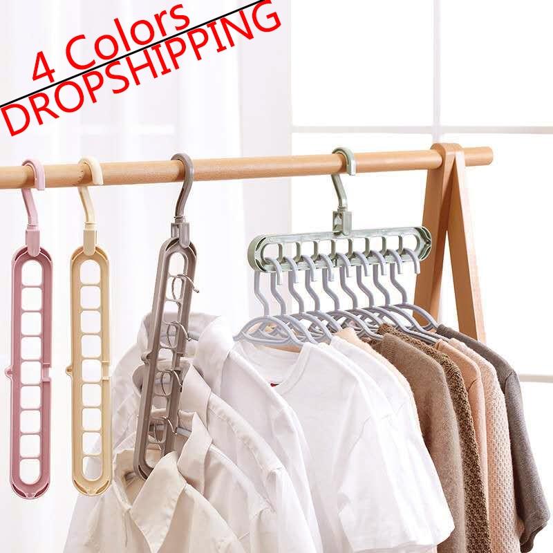 Clothes hanger closet organizer Space Saving Hanger Multi-port clothing rack Plastic Scarf cabide hangers for clothes TXTB1